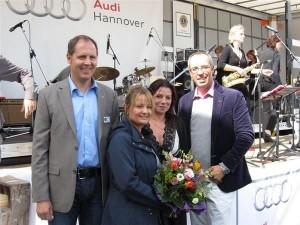 Präsident Stefan Dumke, Event-Managerin Sabrina Blenski, Geschäftsführerin Kornelia Rust-Bulmahn, Geschäftsführer Thomas Mögelin (von links)