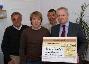 Uwe Beschoten, Tobias Grote, Heinz-Ulrich Scharf, Henning Schulze (von links)
