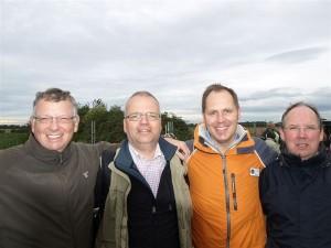 Ein starkes Team: Lionsfreunde Detlef Lehner, Uwe Mäurer, P Stefan Dumke und Dirk Timmermann (von links)