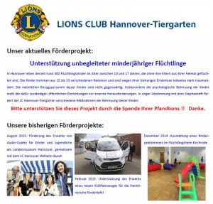 Förderactivity des LC Hannover-Tiergarten