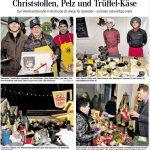 Bericht der HAZ über den Weihnachtsmarkt