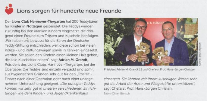 Auszug aus der Hauszeitung Vignette, 2.2018
