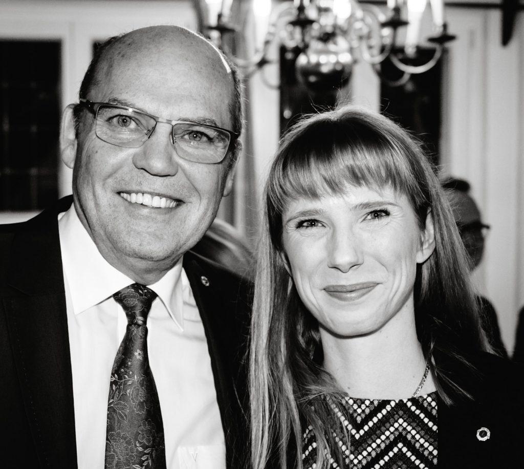 Präsident Jürgen Hinneburg und Denise Nowosielski