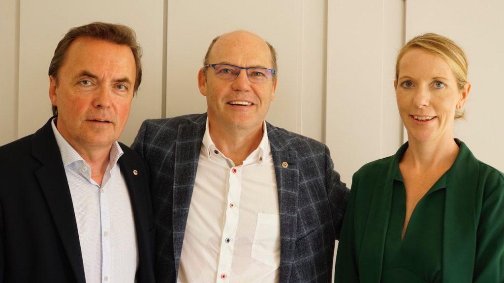 Michael Schulz, Jürgen Hinneburg und Ina Jähne